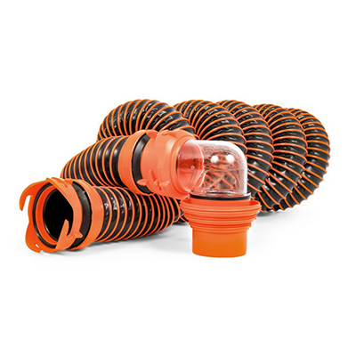Sewer Hose - Camco RhinoEXTREME Sewer Hose Kit With Swivel Fittings And Adapters - 15'L