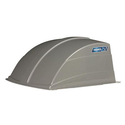 RV Roof Vent Cover - Camco Aerodynamic Exterior Roof Vent Cover - Silver