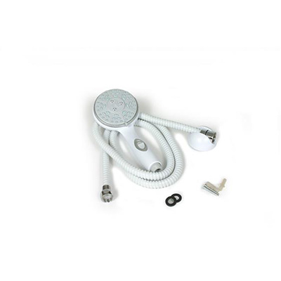 Shower Head Kit - Camco - Includes Hose, Mount And Hardware - White