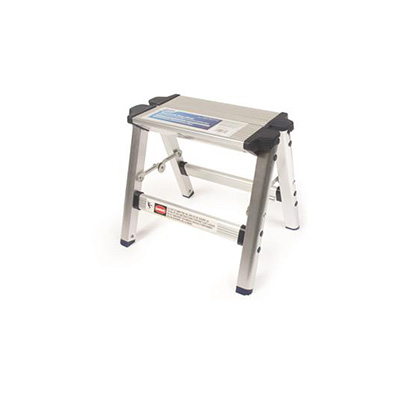 Step Stool - Camco Aluminum Step Stool With Folding Legs - 200 Lbs Capacity