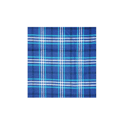 Picnic Blanket - Carefree - Waterproof PVC Backing - Blue Plaid
