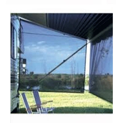 Awning Sun Block Panel - Carefree SideBlocker 6'H x 8'L - Black