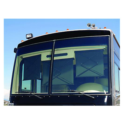 Motorhome Windshield Blind - Carefree 12V SmartVisor With Left Side Control - Black
