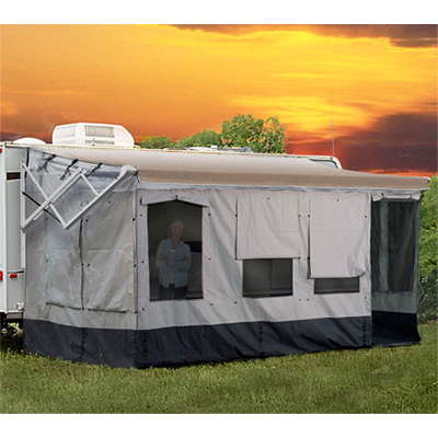 Screen Rooms - Carefree Vacation'r Screen Room - Fits Awning 18' To 19'