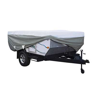 Pop-Up Camper Cover - PolyPRO 3 Deluxe All Season Cover With Storage Bag - 8'L To 10'L