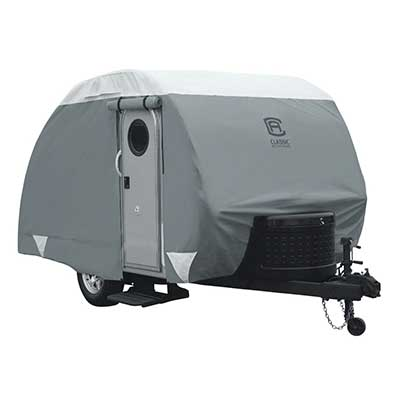 Teardrop Trailer Cover - PolyPRO 3 All Season Cover With Storage Bag - 8'L To 10'L