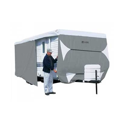 Travel Trailer Cover - PolyPRO 3 Deluxe All Season Cover With Storage Bag - 33'L To 35'L