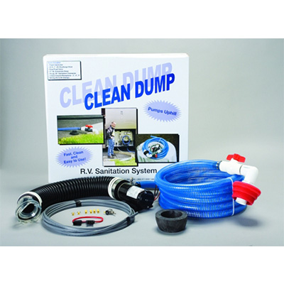 Macerator Pump - Clean Dump 12V Macerator Pump Kit With Wiring Harness And Hardware