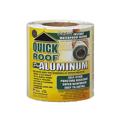RV Roof Repair Tape - Quick Roof Pro Aluminum - 6