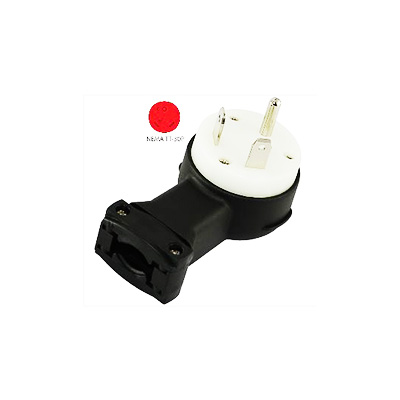 Power Cord Plug End - Conntek 30A Male Plug - Black