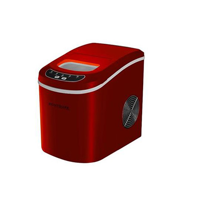 Ice Maker - Contoure 120V Compact Ice Maker With Scoop And Tray - Red