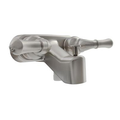 Tub Faucets - Classical Faucet Includes Dual Levers & Tub Diverter - Satin Nickel