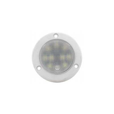 Interior Lights - Diamond Group 12V LED Round Interior Light With Click On/Off Power Control