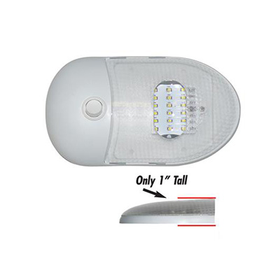 Interior Lights - Slim Line LED RV Single-Dome Light With Switch 12V
