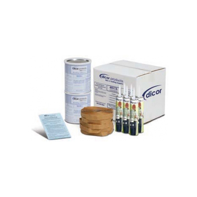 Roof Install Kit - Dicor EPDM And TPO Installation Kit With Glue, Tape And Lap Sealant - Tan
