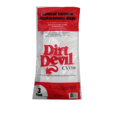 RV Central Vac Bags - Dirt Devil CV1500 HEPA Filter Vacuum Bags 3 Per Pack