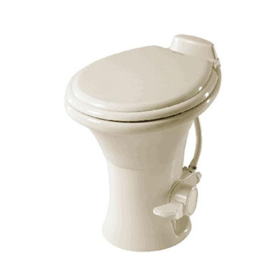 RV Toilet - 310 Series - Pedal Flush - Hand Sprayer - 18