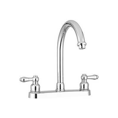 Sink Faucets - Dura Faucet With Lever Handles And High Rise J-Spout - Chrome