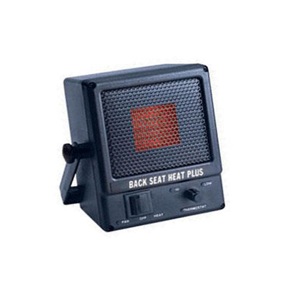 Space Heaters - Family Safety 12V Back Seat Heat Plus 1100 BTU Compact Heater