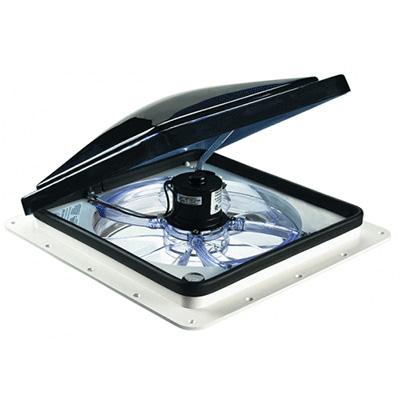 Roof Vents - Fan-Tastic 3350 Vent Includes Thermostat & Rain Sensor - Smoke Lid