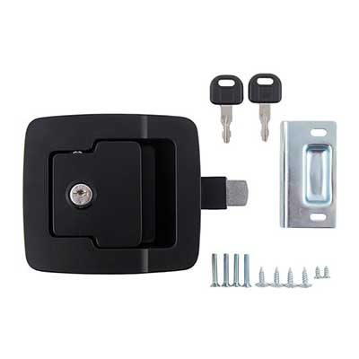RV Baggage Door Latch - AP Products - Fastec - Slam Lock - Black