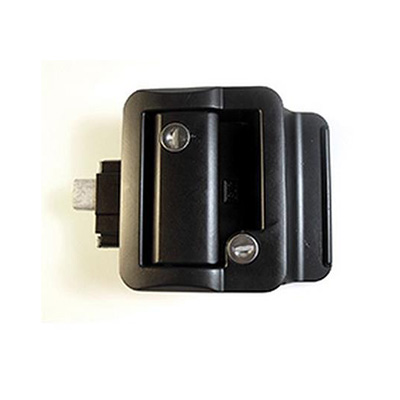 RV Door Latch - Fastec Door Lock/Latch With 2 FIC Keys - Black