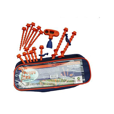 Tent Pegs - Fasteners Unlimited Peggy Pegs Tent Peg Kit With Carry Case