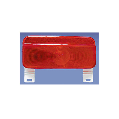 Tail Lights - Fasteners Unlimited Stop/Turn Tail Light With License Plate Holder - Red
