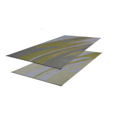 Camping Mats - Faulkner - Mirage - 8 x 20 Feet - Silver And Gold