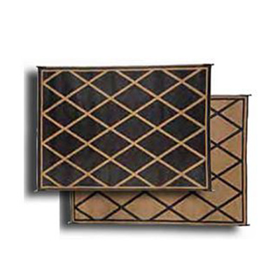 Mats - Faulkner Diamond 9' x 12' Outdoor Mat - Black And Beige