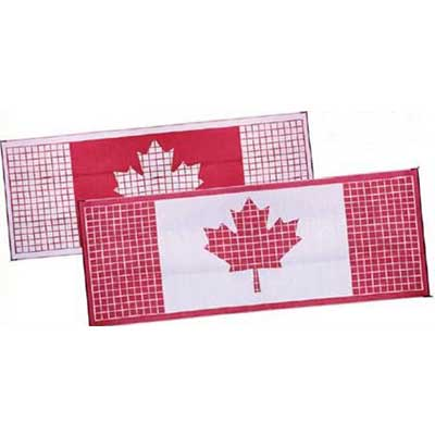 Camping Mats - Faulkner Canadian Flag Patio Mat 9' x 12' Red & White