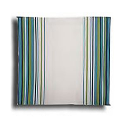 Camping Mats - Faulkner - Stripes - 9 x 12 Feet - Aqua/Navy/Lime/White