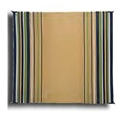 Mats - Faulkner Striped 9' x 12' Outdoor Mat - Navy/White/Lime/Beige