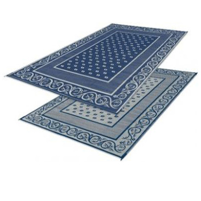 Camping Mats - Faulkner Vineyard Patio Mat 9' x 12' Blue