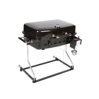 Barbecues - Faulkner Propane Grill With Stand And RV Mount - Black