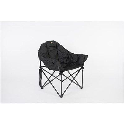 Camping Chairs - Faulkner Big Dog Bucket Chair With Carry Bag Black