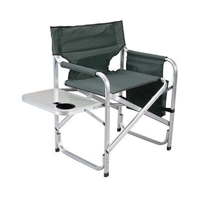 Camping Chair - Faulkner - Director Style - Tray And Side Pouch - Green