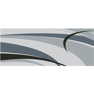 Mats - Faulkner Graphic Design 9' x 12' Outdoor Mat - Black And Grey