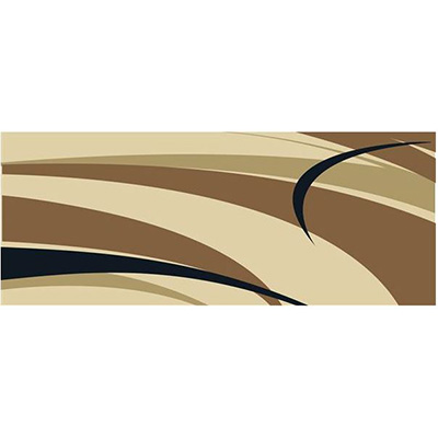 Mats - Faulkner Graphic Design 9' x 12' Outdoor Mat - Brown And Beige