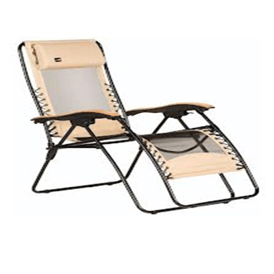 Chairs - Faulkner XL Zero Gravity Recliner With Fabric And Mesh - Beach Sand