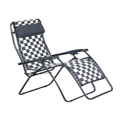 Zero Gravity Recliner - Faulkner - Polycotton Fabric - Black/White