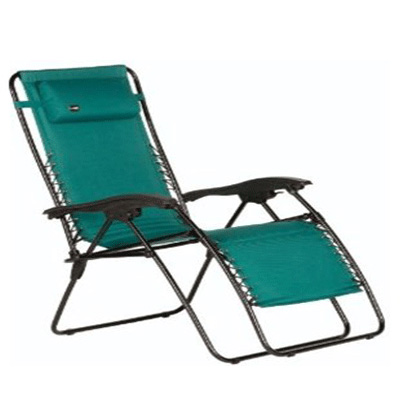 Chairs - Faulkner XL Zero Gravity Recliners With Polycotton Fabric - Green