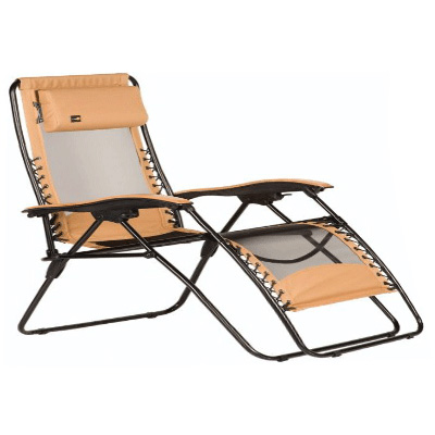 Chairs - Faulkner XL Zero Gravity Recliner With Fabric And Mesh - Mocha
