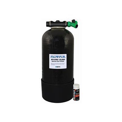 Water Softener - FLOW-PUR/Watts RV-PRO 10000 With Harness Strips 4 GPM Flow Rate