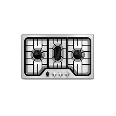 Cooktop - Furrion 3-Burner Drop-In-Counter Propane Cooktop - Stainless Steel