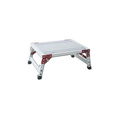 Step Stool - GP Logistics Aluminum Platform Step Stool With Folding Legs - 500 Lbs Capacity