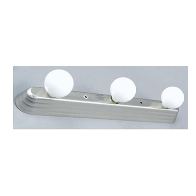 Interior Lights - Lasalle Bristol Vanity Light With Satin Nickel Base & 3 Frosted Bulbs 12V