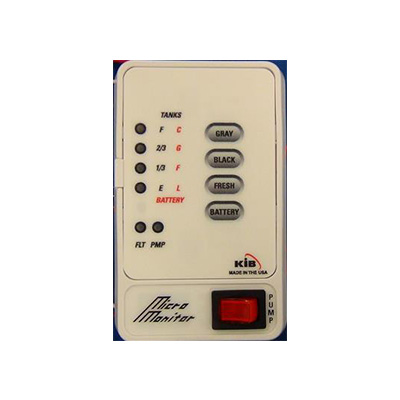 Holding Tank Monitor Panel - KIB Enterprises Holding Tank Monitor Panel - White