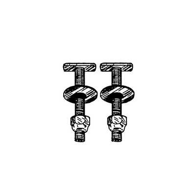 Toilet Mounting Bolts - AquaPlumb Toilet Hold Down Bolts - 2 Per Pack