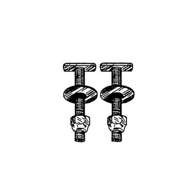 Toilet Parts - AquaPlumb Toilet Mounting Bolts - 2 Per Pack